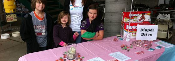Diaper drive outside Central Market in Poulsbo
