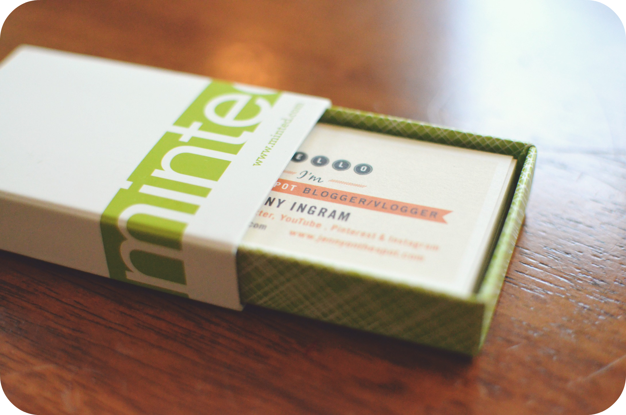minted me = cool new business cards personalized note cards