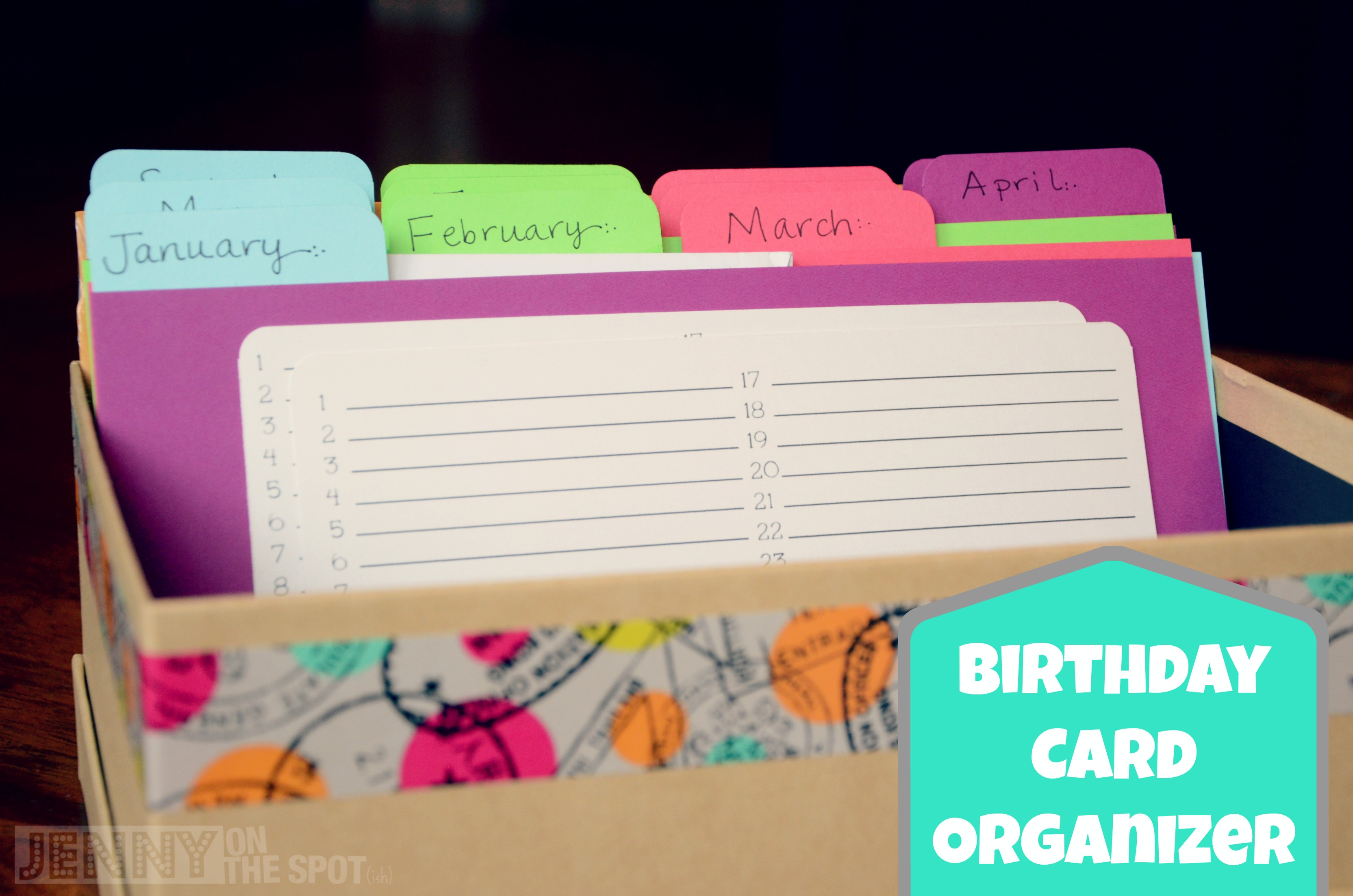 How To Make a Birthday Card Organizer and Card Box – Birthday Cards in a Box