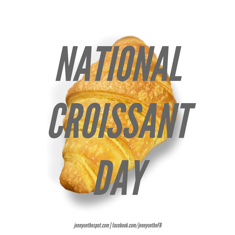 It's National Croissant Day, y'all. Party on. (via jennyonthespot.com)