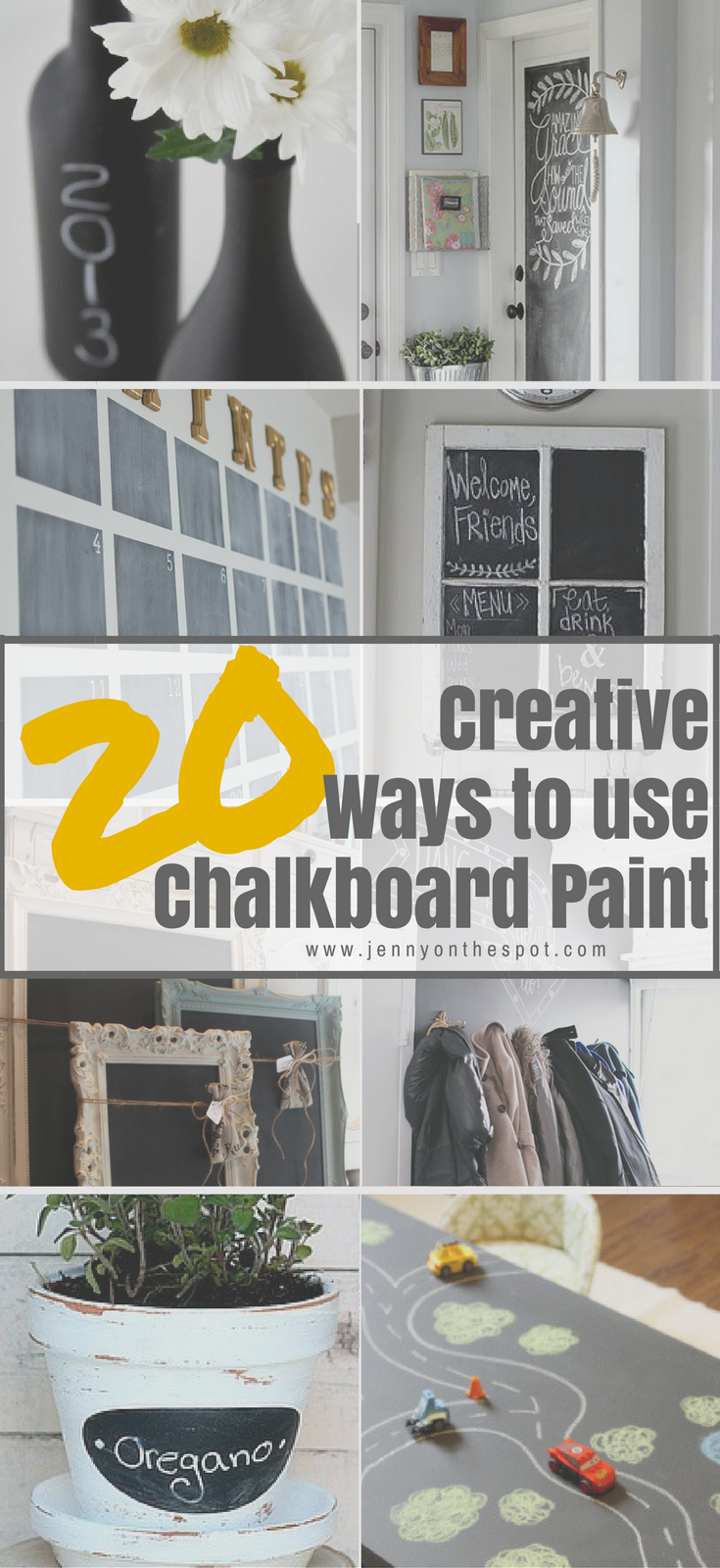 20 creative ways to use chalkboard paint jenny on the for Chalkboard paint ideas