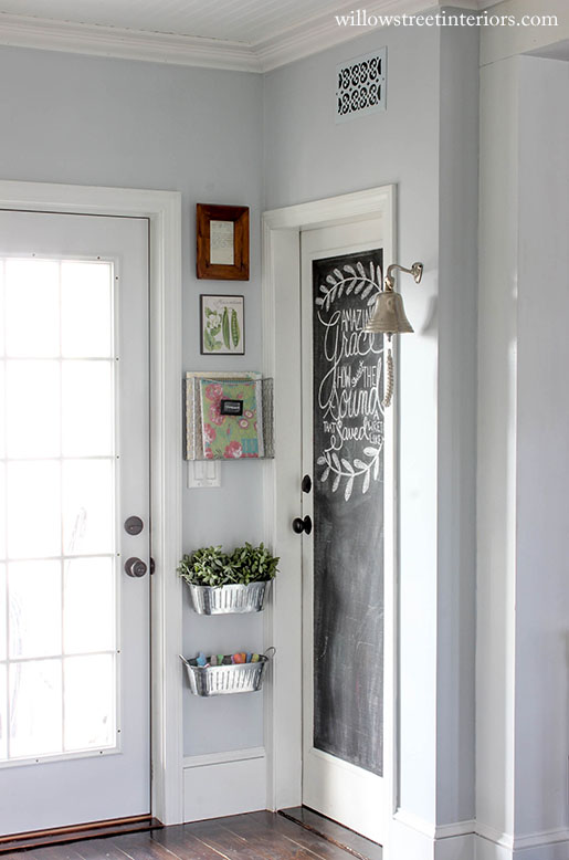 chalkboard paint | door