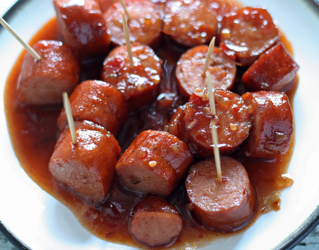 15 Super Bowl Party Recipes: Slow Cooker Sweet and Spicy Sausage