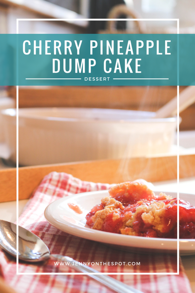 Cherry Pineapple Dump Cake | Comfort Food & Cake | Jenny On The Spot