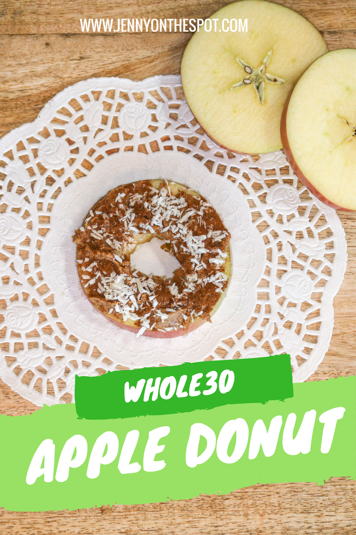 Enjoy a Whole30 Apple Donut | Jenny On The Spot