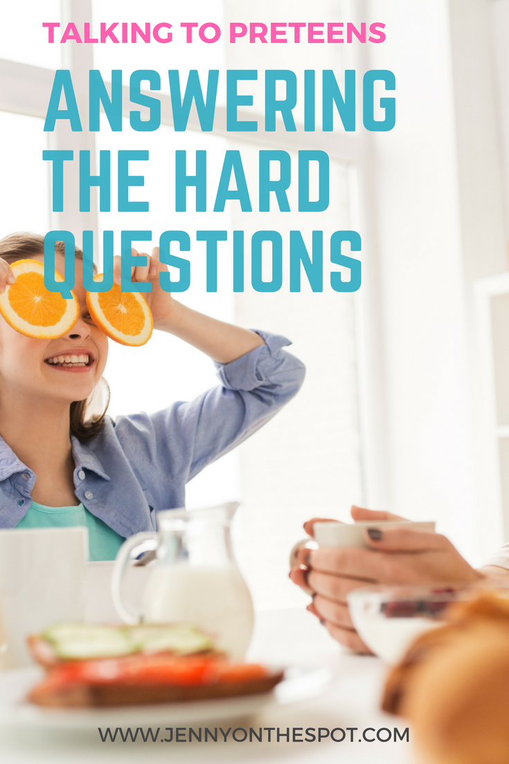 Answering hard questions - preteens and alcohol