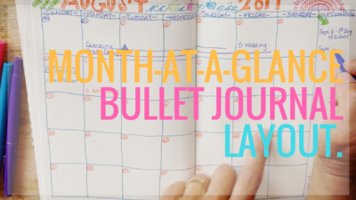 Bullet Journal Monthly Layout tutorial from www.jennyonthespot.com