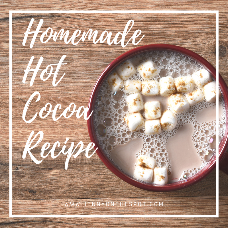 Homemade Hot Cocoa recipe | www.jennyonthespot.com