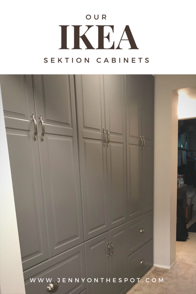 Ikea SEKTION Cabinets in the hallway | www.jennyonthespot.com